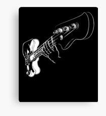 Bass Guitar Shirt Canvas Print