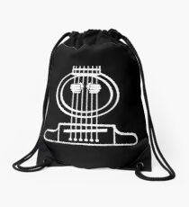 Electric Bass Guitar Shirt Drawstring Bag