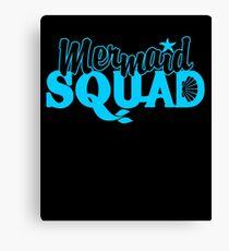 Mermaid Squad Shirt Canvas Print