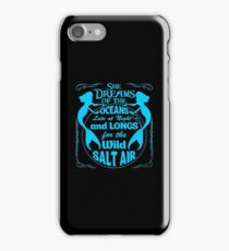 She Dreams Of The Oceans Shirt iPhone Case/Skin