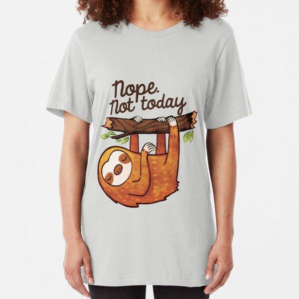 Sloth Nope Slim Fit T-Shirt