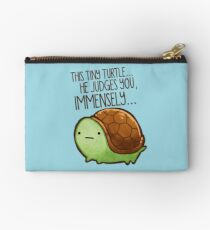 This turtle.. he judges you. Studio Pouch