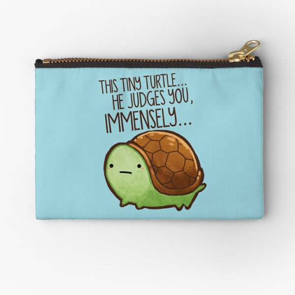 This turtle.. he judges you. Zipper Pouch