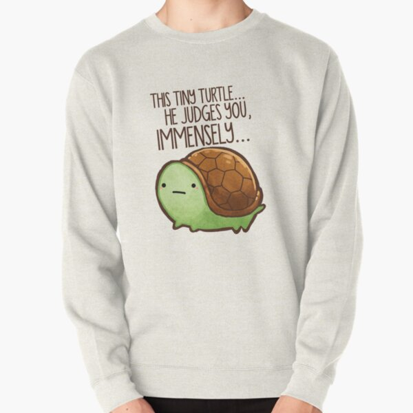 This turtle.. he judges you. Pullover Sweatshirt