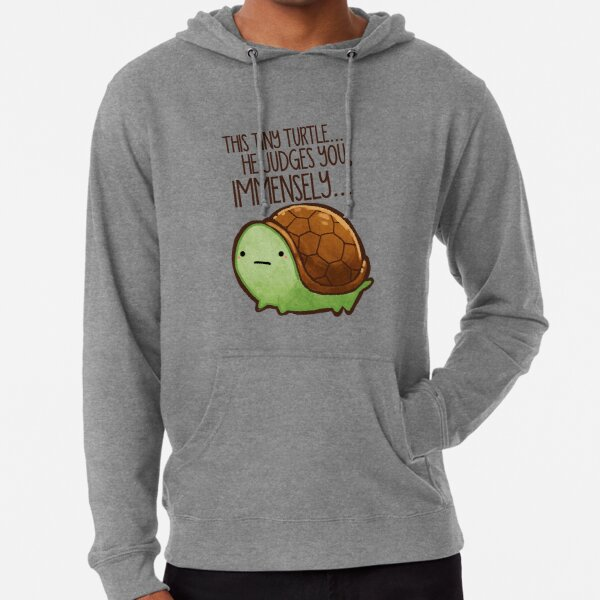 This turtle.. he judges you. Lightweight Hoodie