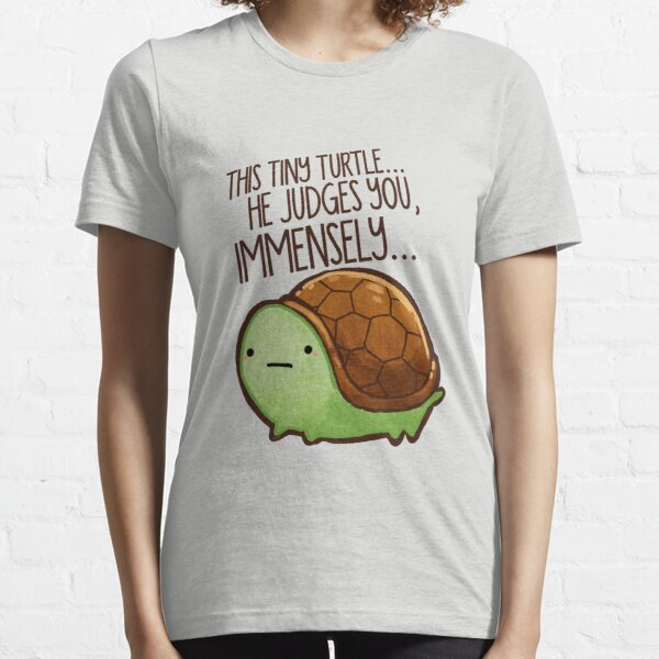 This turtle.. he judges you. Essential T-Shirt