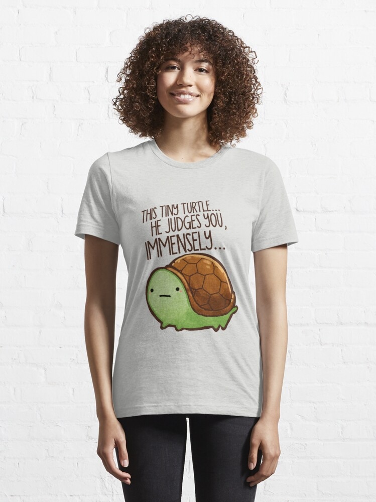 Alternate view of This turtle.. he judges you. Essential T-Shirt
