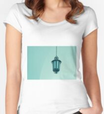 Old lantern in blue Women's Fitted Scoop T-Shirt