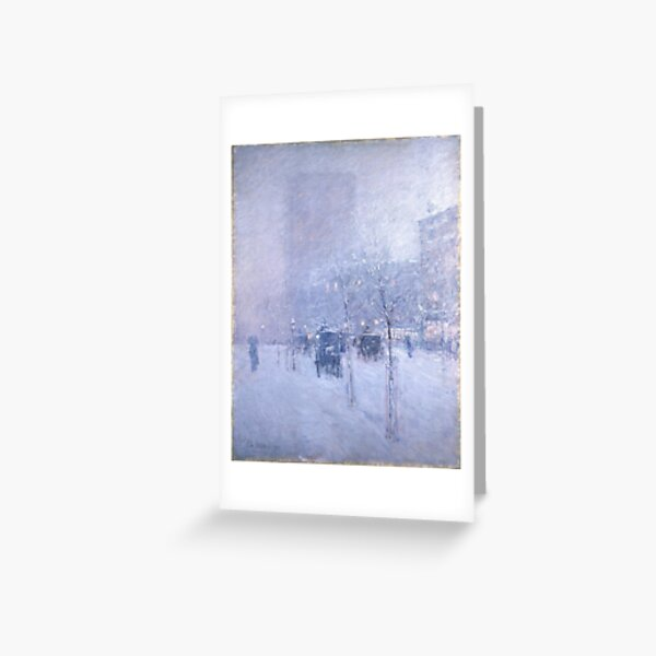 Late Afternoon New York Winter - Childe Hassam Greeting Card