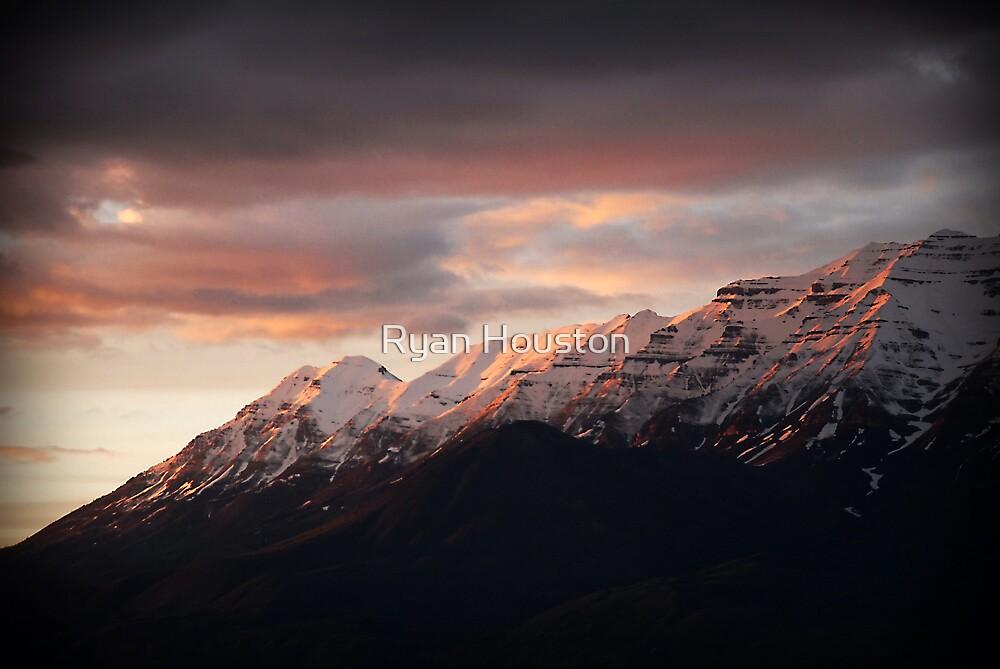 Pink Timpanogos Sunset by Ryan Houston