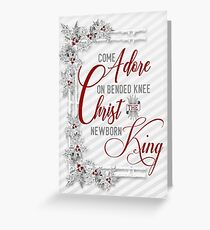 Christ the Newborn King Religious Christmas Greeting Card
