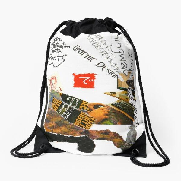 Stamp People Series (The Font Lover) Drawstring Bag
