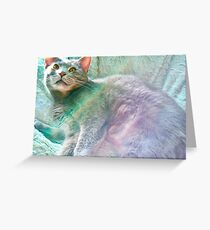 Rainbow Buffy Greeting Card