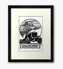 Vintage Advertisement for DiamondT Trucks Framed Print