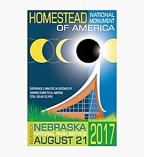 Solar Eclipse Poster – Solar Eclipse, Homestead National Monument, 2017 Photographic Print