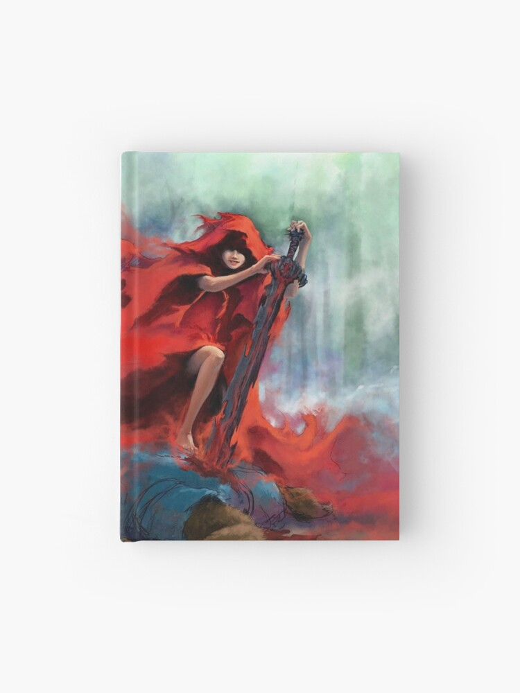 Modern Little Red Riding Hood Killing Wulf Hardcover Journal