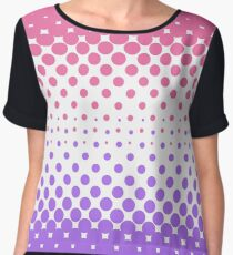 pink and violet halftone Chiffon Top