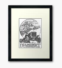 Vintage Advertisement for DiamondT Trucks - weathered look Framed Print