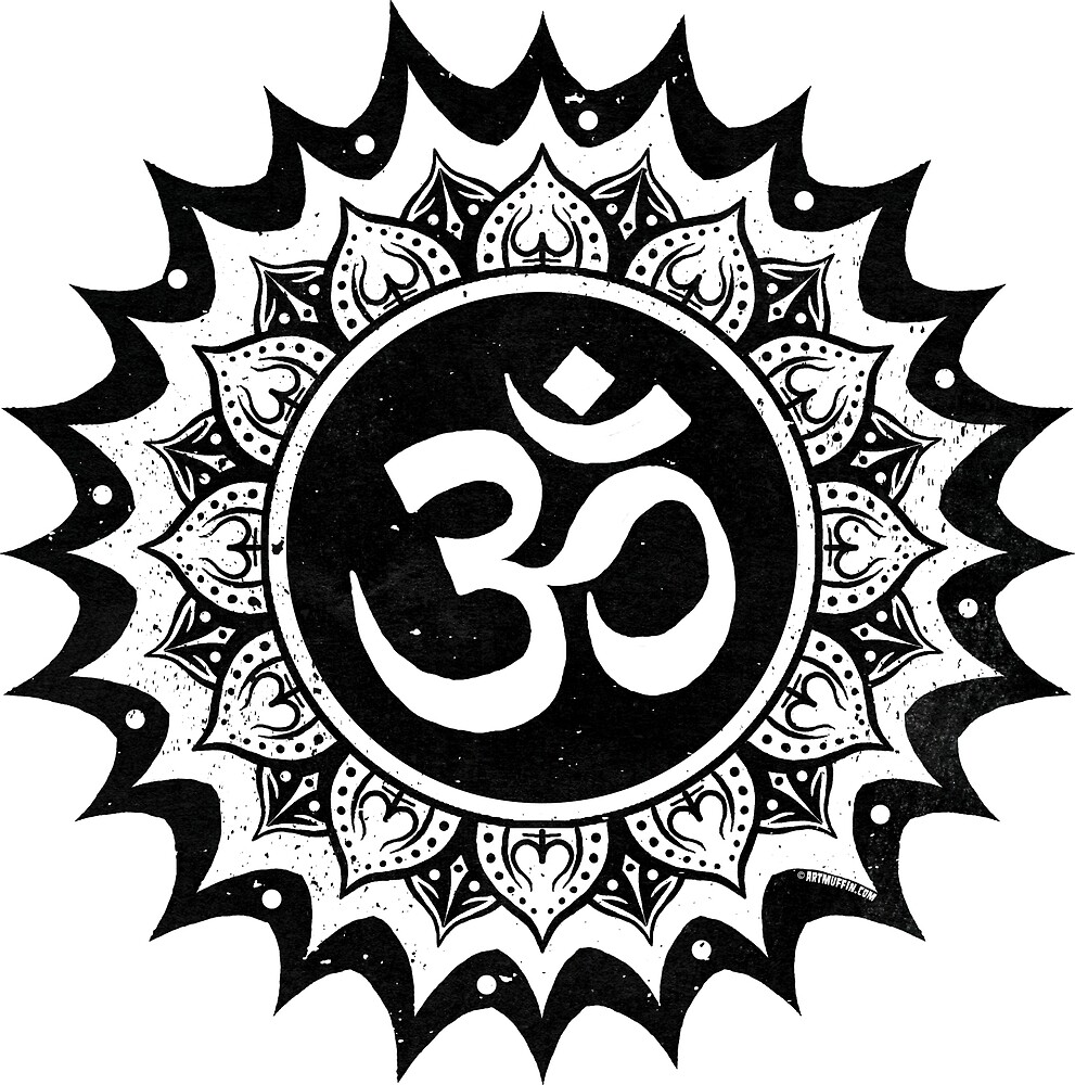 Om With Lotus On Transparent Background By Artmuffin Redbubble