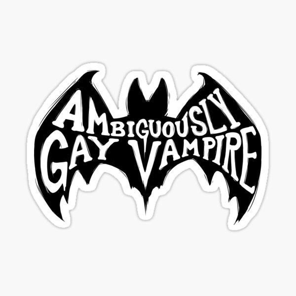 Ambiguously Gay Vampire Sticker