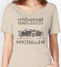 Vintage Advertisement for Michelin - weathered look Women's Relaxed Fit T-Shirt