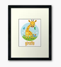 giro the giraffe Framed Print
