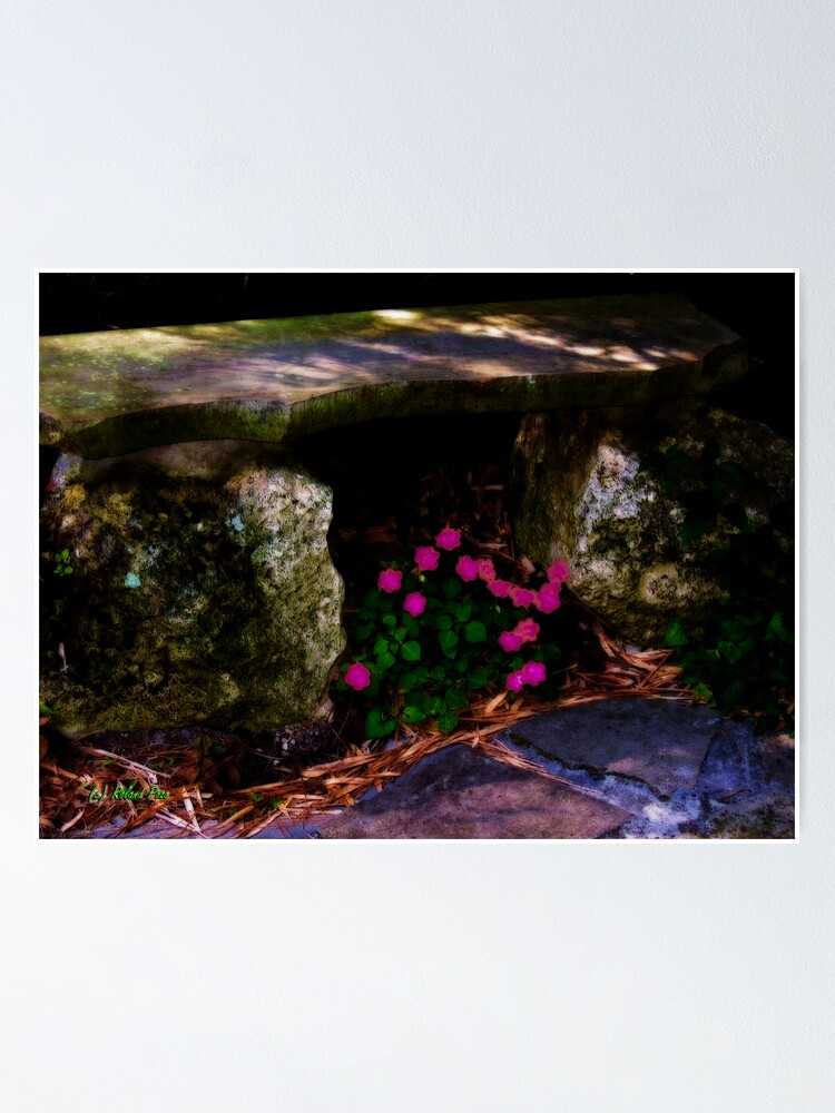 Alternate view of Stone Bench Poster