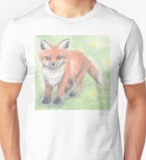 Fox in the meadow Unisex T-Shirt