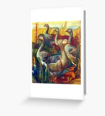goose lombardella  (anser albifrons) Greeting Card