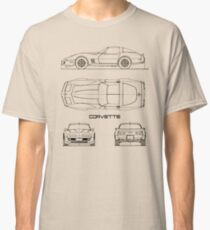 The Corvette C3 Blueprint Classic T-Shirt