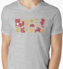 Autumn seamless pattern with cute cartoon forest animals T-Shirt