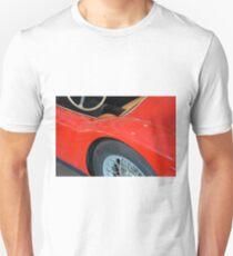 Close up on red vintage shining car Unisex T-Shirt