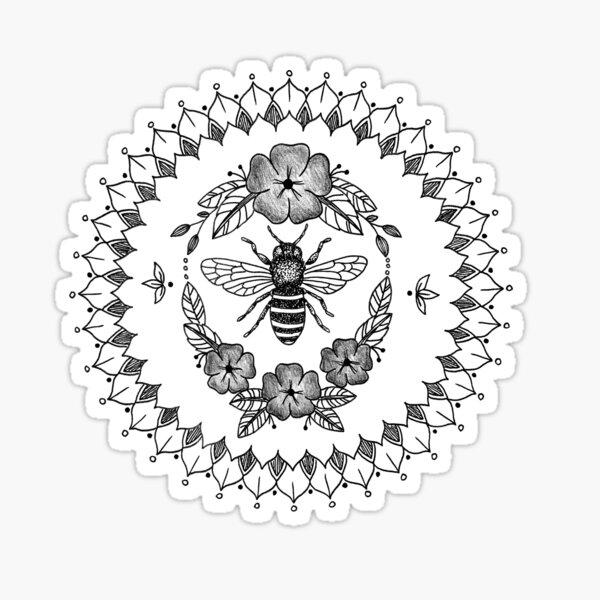 Bumble Bee Mandala Sticker