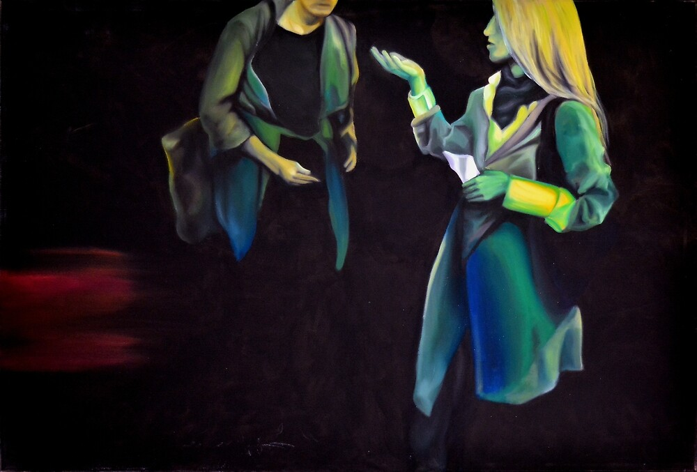 Persuasion, 2013, 120-80cm, oil on canvas by oanaunciuleanu