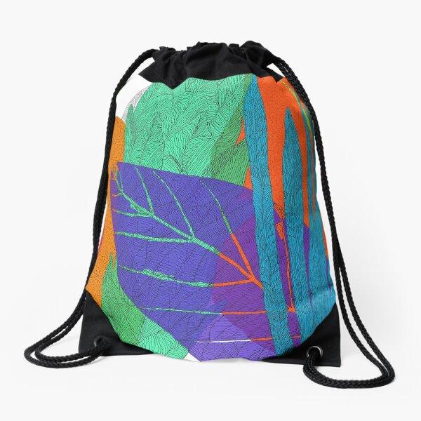 Colorful summertime Drawstring Bag
