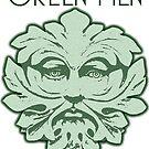 Green Men face for light backgrounds by KJCharles