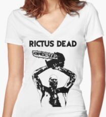 RICTUS ERECTUS DEAD Women's Fitted V-Neck T-Shirt