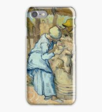 The Sheep-Shearers (after Millet) 1889 Vincent Van Gogh iPhone Case/Skin