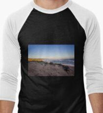 Sand dunes at Gunnamatta Surf Beach, Mornington Peninsula, Victoria, Australia. Men's Baseball ¾ T-Shirt