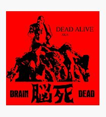 「脳死」DEAD ALIVE AKA BRAINDEAD Zombie Horror Movie T Shirt Photographic Print