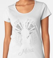 FOR THE LOVE OF MUSIC A GUITAR PLAYER ROCK MUSICIANS DESIGN BLACK Women's Premium T-Shirt