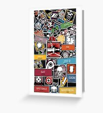 R6 Icon Collage HQ Greeting Card