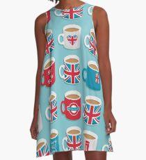 A Very British Brew A-Line Dress