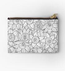 Linear Floral Pattern  Zipper Pouch