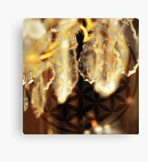 Gold Flower of Life - Sacred Geometry Canvas Print