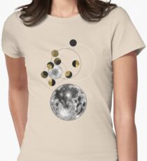Phases of the Moon Women's Fitted T-Shirt