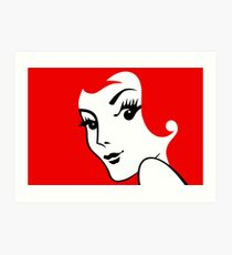 Miss Redhead [iPad / Phone cases / Prints / Clothing / Decor] Art Print