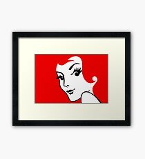 Miss Redhead [iPad / Phone cases / Prints / Clothing / Decor] Framed Print