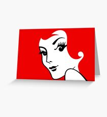 Miss Redhead [iPad / Phone cases / Prints / Clothing / Decor] Greeting Card