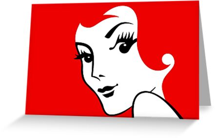 Miss Redhead [iPad / Phone cases / Prints / Clothing / Decor] by Damienne Bingham